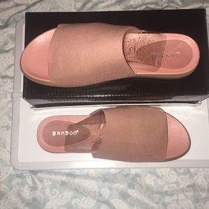 Bamboo Pink Slippers / Sandals
